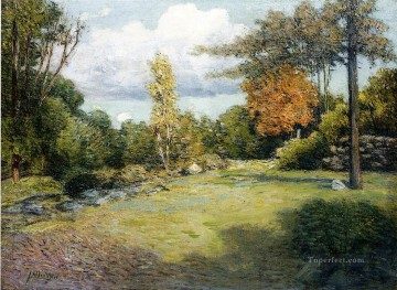 Autumn Days impressionist landscape Julian Alden Weir Oil Paintings